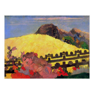 Hay el templo de Eugène Enrique Paul Gauguin Posters