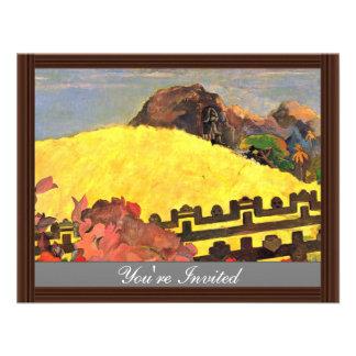 Hay el templo Parahi Te Marae por Paul Invitación