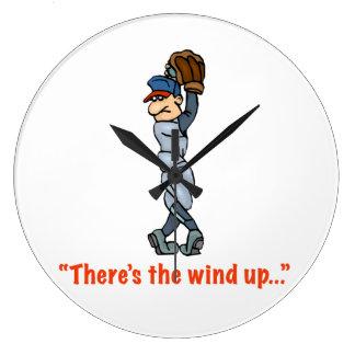 """""""Hay el viento para arriba…"""" Reloj de pared"""