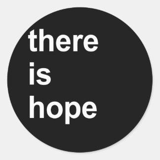 hay esperanza etiqueta redonda