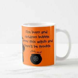 ¡Hay esté problema! La taza fresca de la bruja