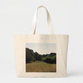 Hay Field Below Vineyard in Paso Robles Tote Bags