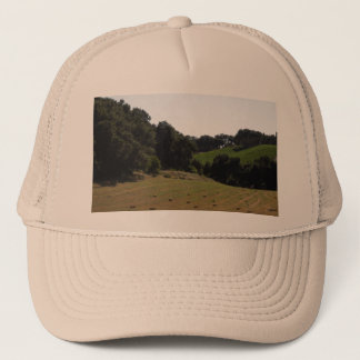 Hay Field Below Vineyard in Paso Robles Trucker Hat
