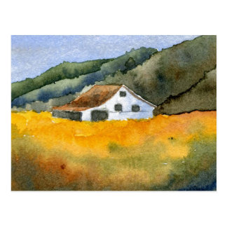"""Hay Field"" Country Roads Postcard"