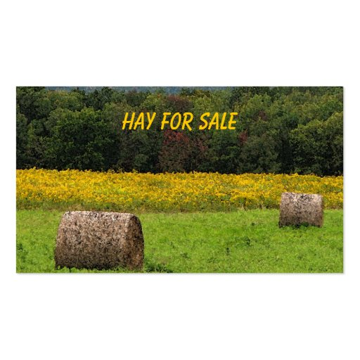 Hay for Sale Business Card