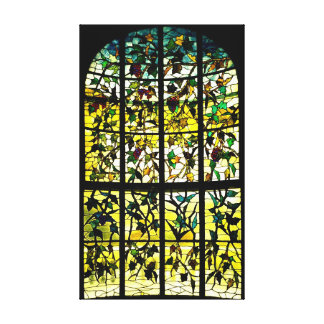 Hay House Stained Glass Window 1857 Canvas Print