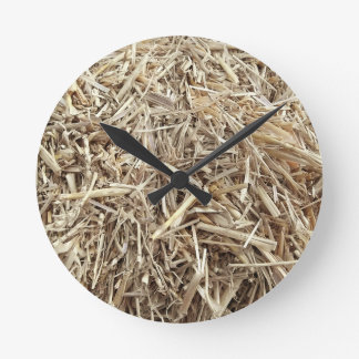 Hay Is that a What s that Barnyard Ninja Camo Round Wall Clock