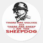 Hay lobos allí es ovejas que soy el perro pastor pegatinas redondas