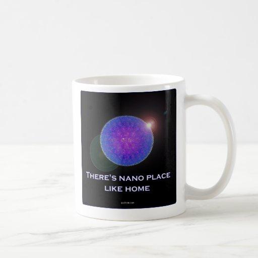 Hay lugar nano como el hogar (2) taza básica blanca