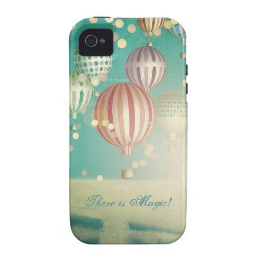 Hay mágico en el aire (el tiempo del navidad) vibe iPhone 4 carcasa