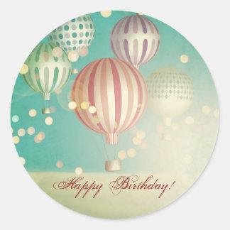 Hay mágico en el aire - feliz cumpleaños pegatina redonda