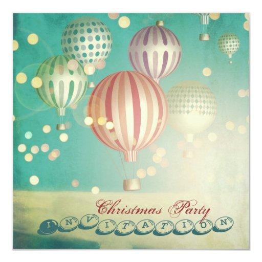 Hay mágico en el aire - la fiesta de Navidad Invitación 13,3 Cm X 13,3cm