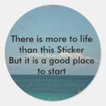 Hay más a la vida etiquetas redondas