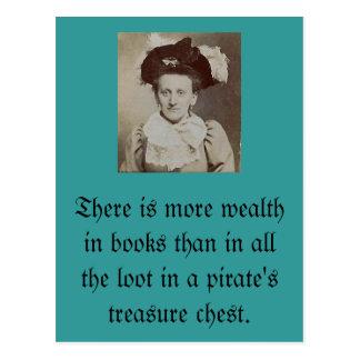 Hay más riqueza en libros… postal