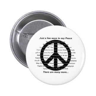 Hay muchas maneras de decir paz con símbolo pins