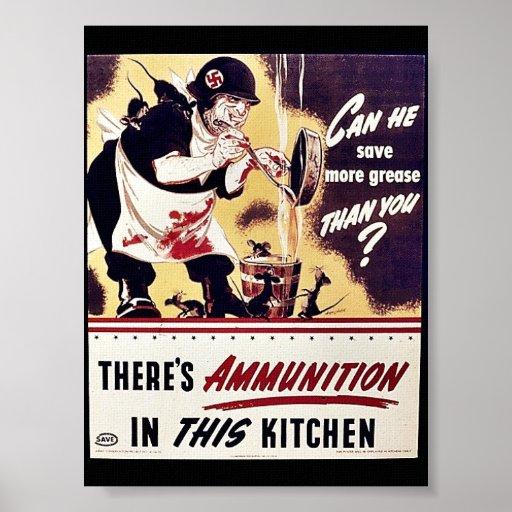 Hay munición en esta cocina impresiones