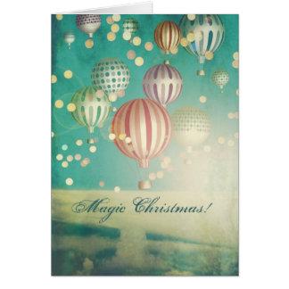 Hay navidad mágico que saluda tarjeta de felicitación