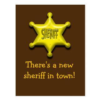 ¡Hay nuevo sheriff en ciudad! Postales