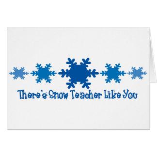 Hay profesor de la nieve como usted tarjeton