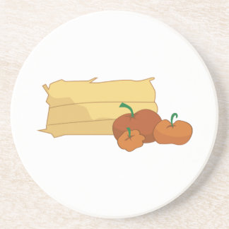 Hay & Pumpkins Drink Coasters