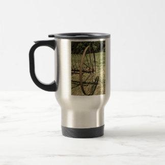 Hay Rake Wheel Aged Travel Mug
