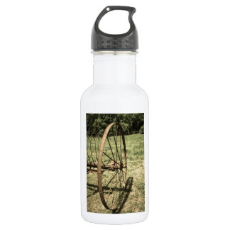 Hay Rake Wheel Aged Water Bottle
