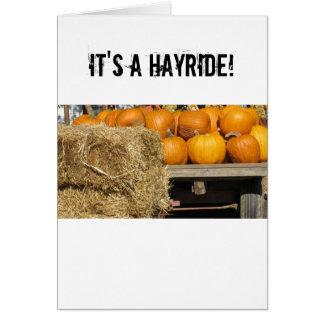 Hay Ride Card