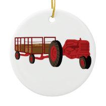 Hay Ride Ceramic Ornament
