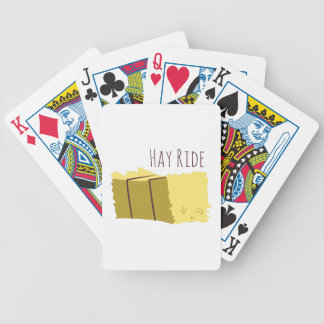 Hay Ride Bicycle Playing Cards
