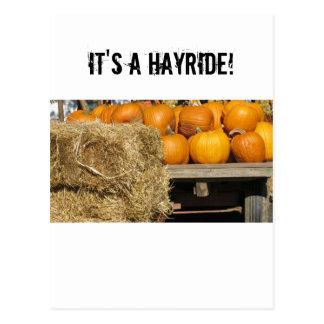 Hay Ride Postcard
