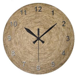 Hay Roll Wall Clock