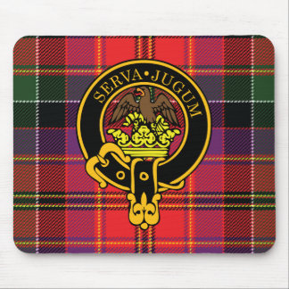 Hay Scottish Crest and Tartan Mouse Pad