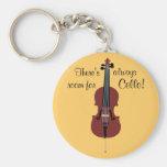¡Hay siempre sitio para el violoncelo! Llavero Personalizado