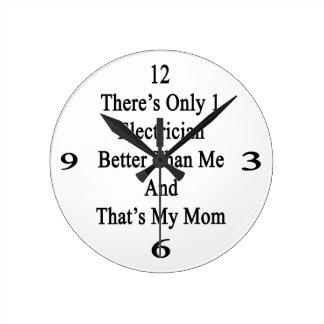 Hay solamente 1 electricista mejor que mí y ése reloj redondo mediano