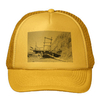 Hay stack and wagon – 1939 mesh hat