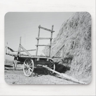 Hay stack and wagon – 1939. mouse pad
