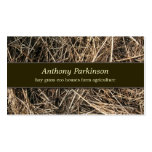 hay straw business card standard business cards