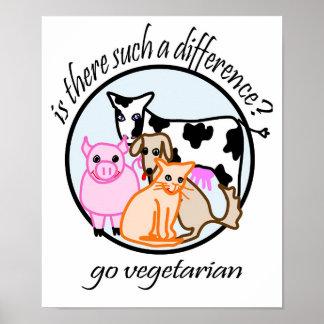 ¿Hay tal diferencia? Va el vegetariano Póster
