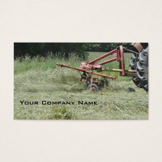 Hay tedder business card