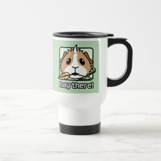 Hay There! (Guinea Pig) 15 Oz Stainless Steel Travel Mug