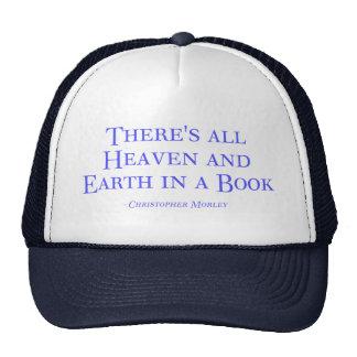 Hay todo el cielo y tierra en un libro gorro