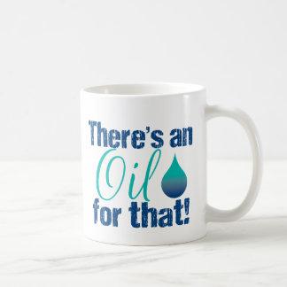 Hay un aceite para ese trullo azul taza de café