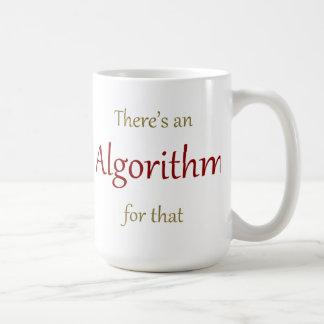 Hay un algoritmo para eso taza
