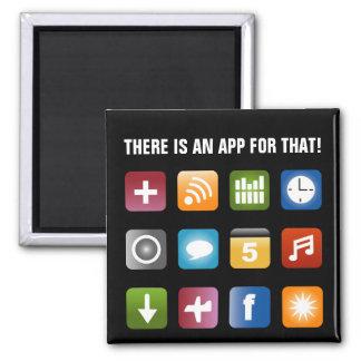 Hay un app para ese diseño del vector del imán el
