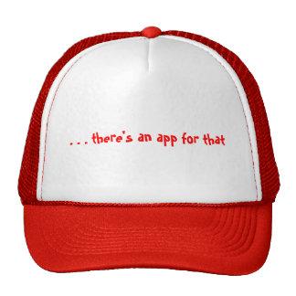 … hay un app para ese gorra