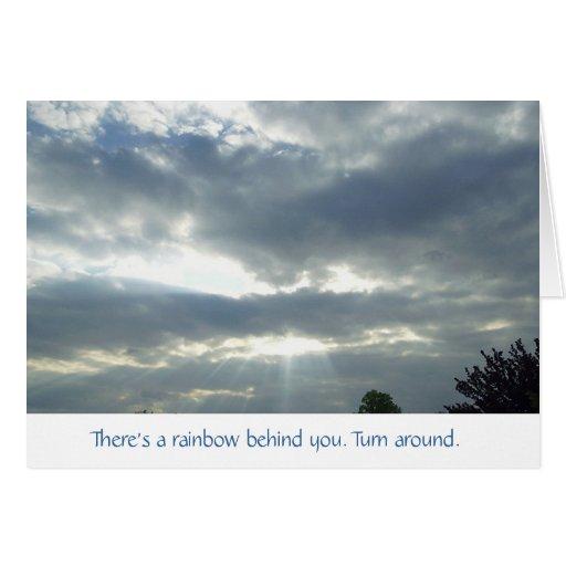 Hay un arco iris felicitacion