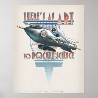 """Hay un arte a la ingeniería espacial (16x20"""") póster"""