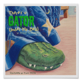 ¡Hay un cocodrilo debajo de mi cama! Póster