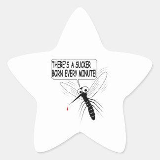 Hay un lechón llevado cada minuto pegatina en forma de estrella