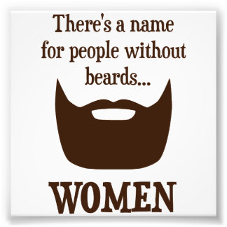 Hay un nombre para la gente sin las barbas… fotografía